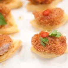 Chicken and Kellogg's® Eggo® Waffle Appetizer Bites