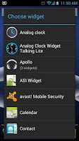 Screenshot of AnalogClock Widget TalkingLite