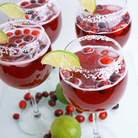 Cranberry and Lime Margaritas