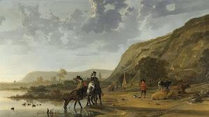 RIJKS: Aelbert Cuyp: River Landscape with Riders 1657