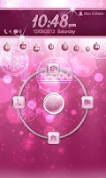 Screenshot of Pink Christmas Go Locker Theme