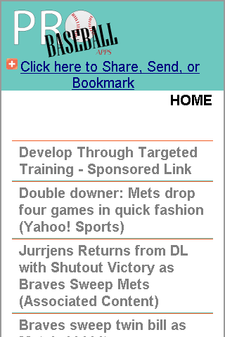 Atlanta Pro Baseball News