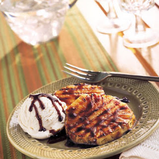 Grilled Cardamom-Scented Pineapple with Vanilla Ice Cream
