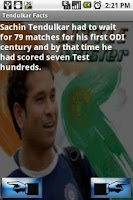 Screenshot of Tendulkar Facts