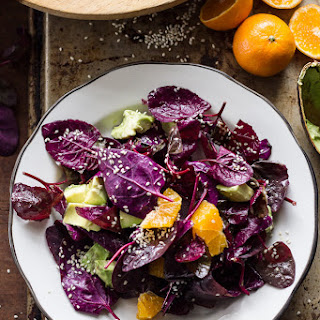 Red Heirloom Spinach Salad With Soy-ginger Vinaigrette