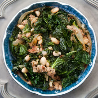 Kale with Sausage and White Beans
