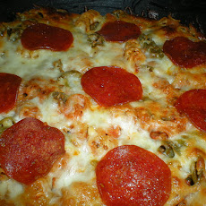 Crock Pot Pizza Casserole