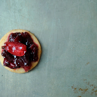 Cherry Jam with Lemon-Pepper Shortbread