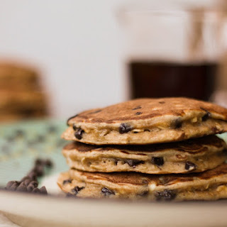 Single Serving Healthy Chocolate Chip Pancakes