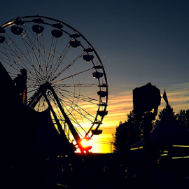 last kiss of day by Todd Reynolds - City,  Street & Park  Amusement Parks