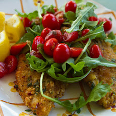 Breaded Chicken Cutlets With Tomatoes and Arugula