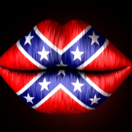 Union Kiss by Markham Mack - Web & Apps Icons ( icon. union. lips. flag. 3d graphic. )