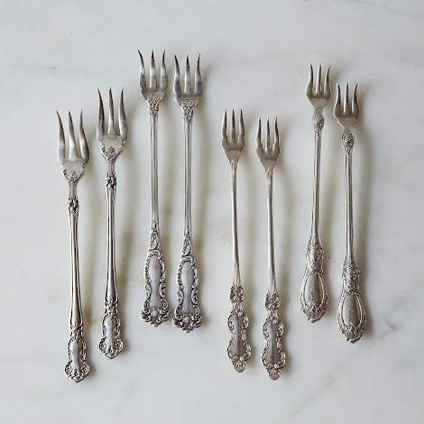 Vintage Oyster Forks, Set of Two