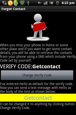 Forgot contact