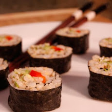 Healthy Avocado Sushi With Brown Rice