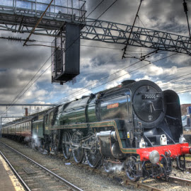 BR 70000 Britannia by David Garnett - Transportation Trains ( carlisle, br 70000, steam train, carlisle citadel, britannia, steam loco, br 70000 britannia,  )