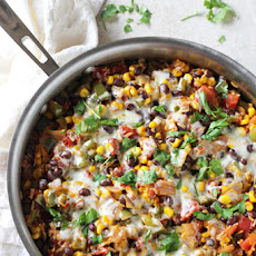 Skillet Mexican Brown Rice Casserole