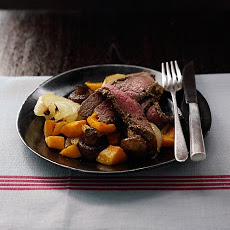 Pepper Steak with Squash and Mushrooms