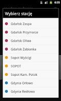 Screenshot of SKM Trójmiasto Rozkład