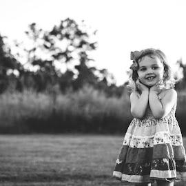 Innocence  by Stephanie Stafford - Babies & Children Children Candids ( sweet, black and white, children, cute, toddler )