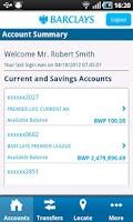 Screenshot of Barclays Botswana