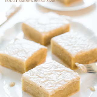 Fudgy Banana Bars with Vanilla Bean Browned Butter Glaze