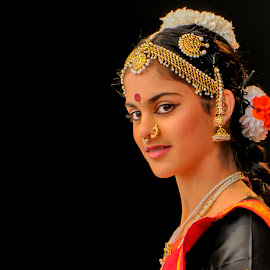 Portrait of a Young Indian Dancer by Robert Wake - People Fashion (  )