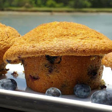 Fresh Blueberry Sour Cream Muffins
