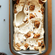 Vegan Peanut Butter Chocolate Chip Cookie Dough Ice Cream