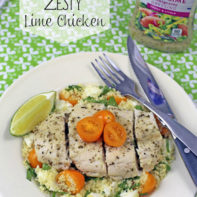 Zesty Lime Chicken with Caprese Couscous