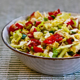 Spicy Cabbage Salad with Tomatoes, Radishes, and Celery (Puerto Rican Cabbage Salad)