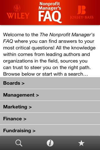Nonprofit Manager's FAQ