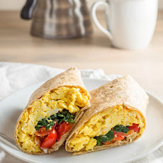 Spinach Feta Breakfast Wraps