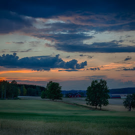 Summer night in Ås by John Einar Sandvand - Landscapes Prairies, Meadows & Fields ( follo, ås, landscape, fields )