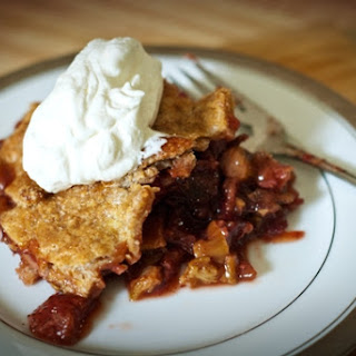 Strawberry-Rhubarb Pie with Whole Wheat Crust