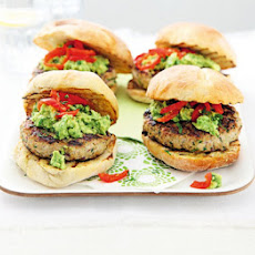 Turkey & Coriander Burgers With Guacamole