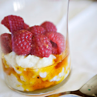 Vanilla Raspberry Rice Pudding