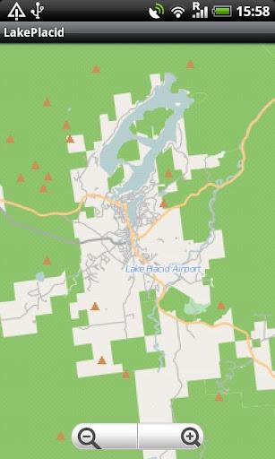 Lake Placid Saranac Lake map