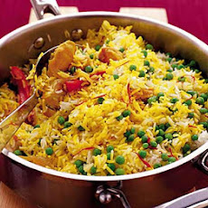 Saffron Rice With Chicken & Peppers