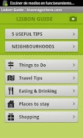 Screenshot of Lisbon Travel Guide