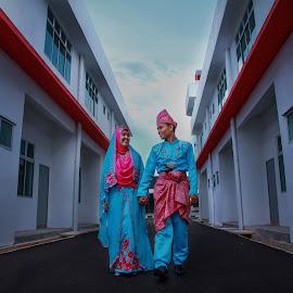 walk with me by Mohd Faidzul - Wedding Bride