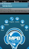 Screenshot of MPB Public Radio App