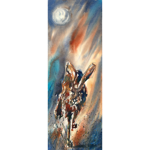 Moon Hare painting art watercolour