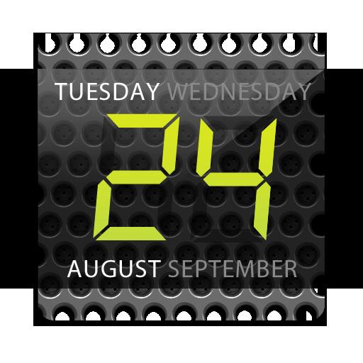 Digital clock widget. Black