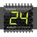 Widget de reloj digital. Negro icon