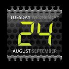 Digital clock widget. Black icon