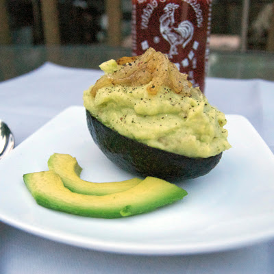 Avocado Whipped Potatoes w/ Caramelized Onions