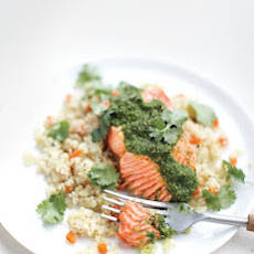 Moroccan Steamed Salmon with Quinoa and Carrots