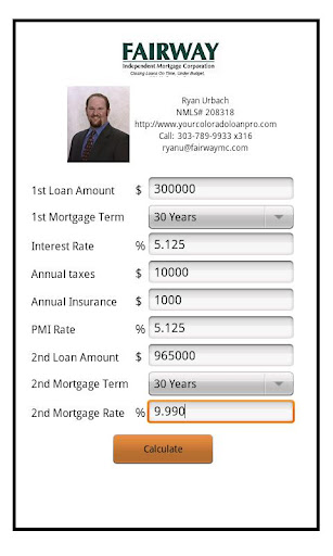 Ryan Urbach's Mortgage Calc