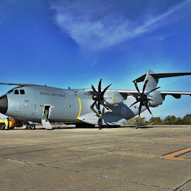 A400M in the med by Phil Collins - Transportation Airplanes ( hdr, raf, a400m, airbus, cyprus )